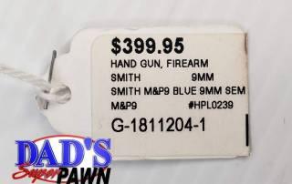 Smith & Wesson M&P9 Semi-Auto Pistol